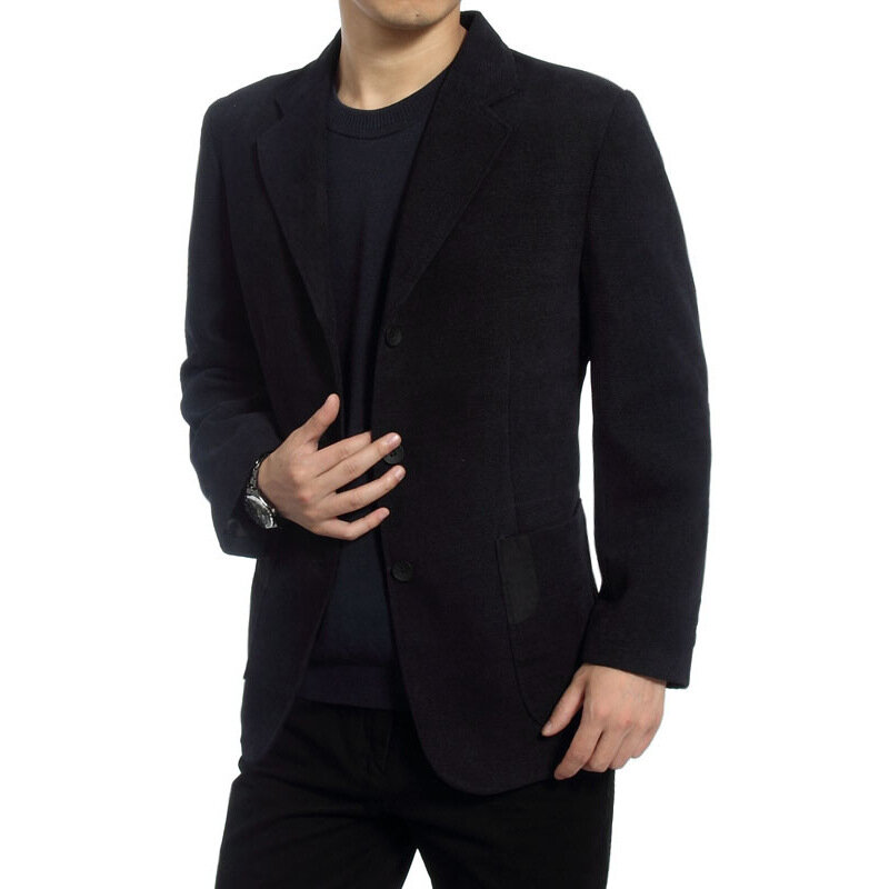 Mens Three Pieces Solid Color Slim Fit Blazer Suit - 2