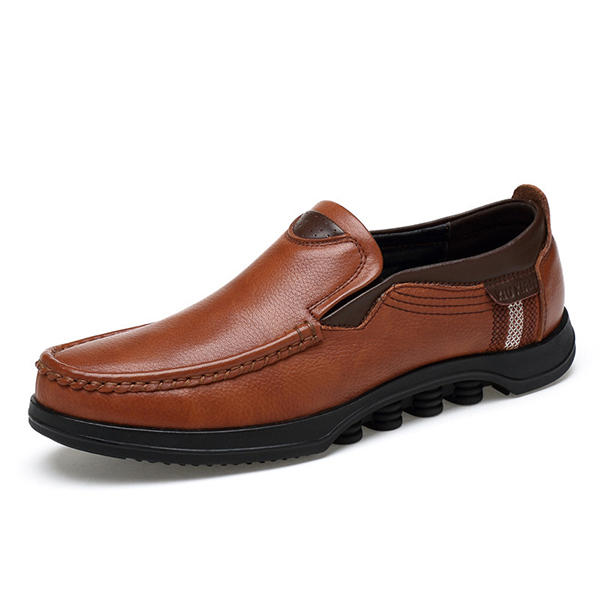 Men Comfy Pointed Toe Leather Business Formal Shoes - 2