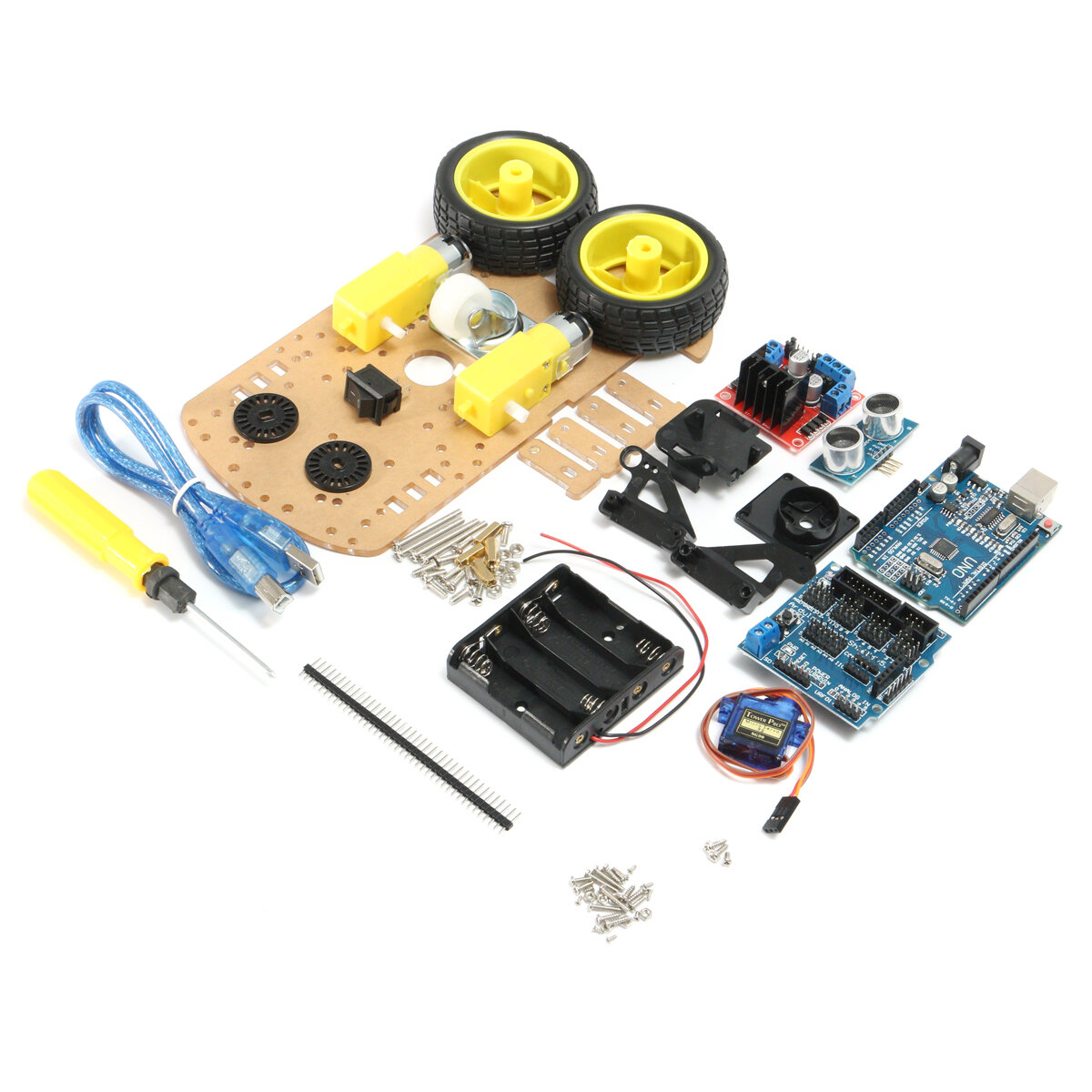 Intelligent Tracking Smart Car DIY Accessories Kits Electronic Component Set