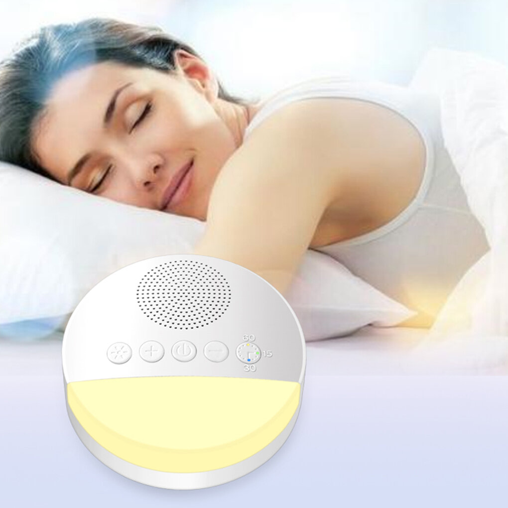 Baby Toy White Noise Machine with Night Light Timer Memory Function for Home Office Baby Travel Portable Sleep Meter The