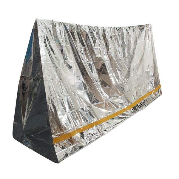 Emergency Aluminized Sunshade Sun Shelter Blanket First Aid Insulation Sleeping Bag Outdoor Camping Survival 100 x 200cm