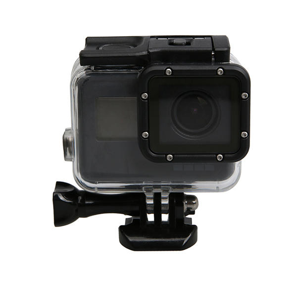 Waterproof Housing Case with Tough Screenn Back Door Cover For Gopro Hero 5 Black