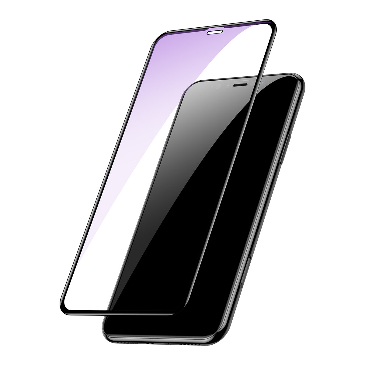 pretty nice f8f13 bd75a Baseus 0.2mm Full Screen Arc Surface Clear/Anti Blue Light Tempered Glass  Screen Protector For iPhone XS Max