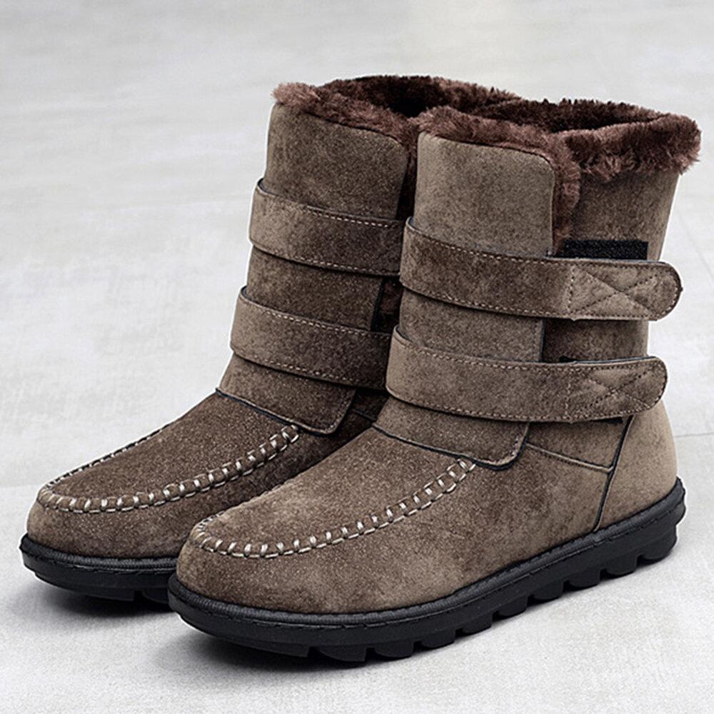 נשים שלג נעליים מקרית הוק לולאה פרווה נעלי בטנה
