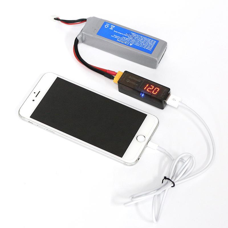 Lipo AOKoda a Convertidor USB Power Carga Rápida de Adaptador QC3.0 para Teléfono Inteligente Tableta PC - 2