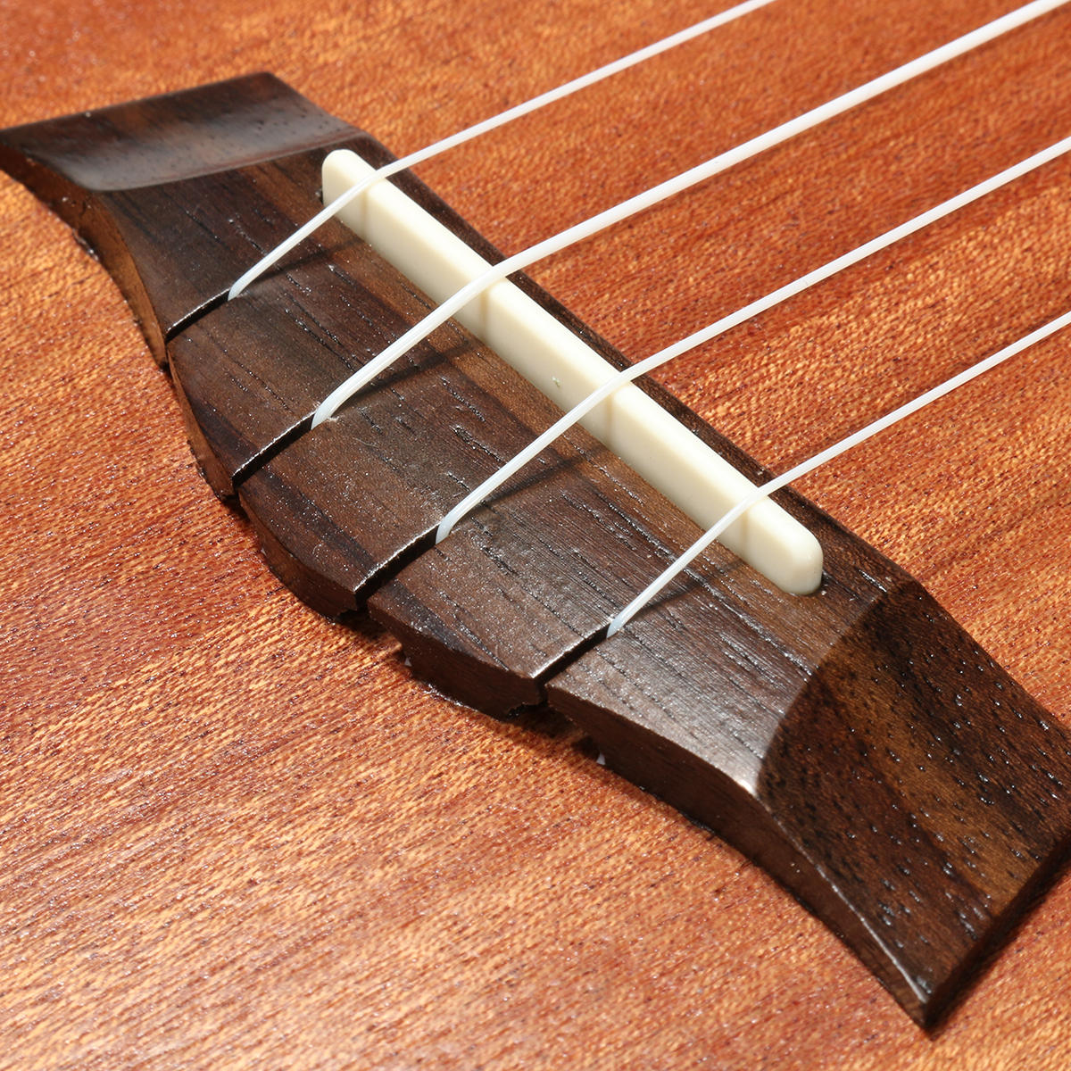 21 Inch 4 Strings 15 Frets Wood Color Mahogany Ukulele Musical Instrument With Guitar picks/Rope - 9