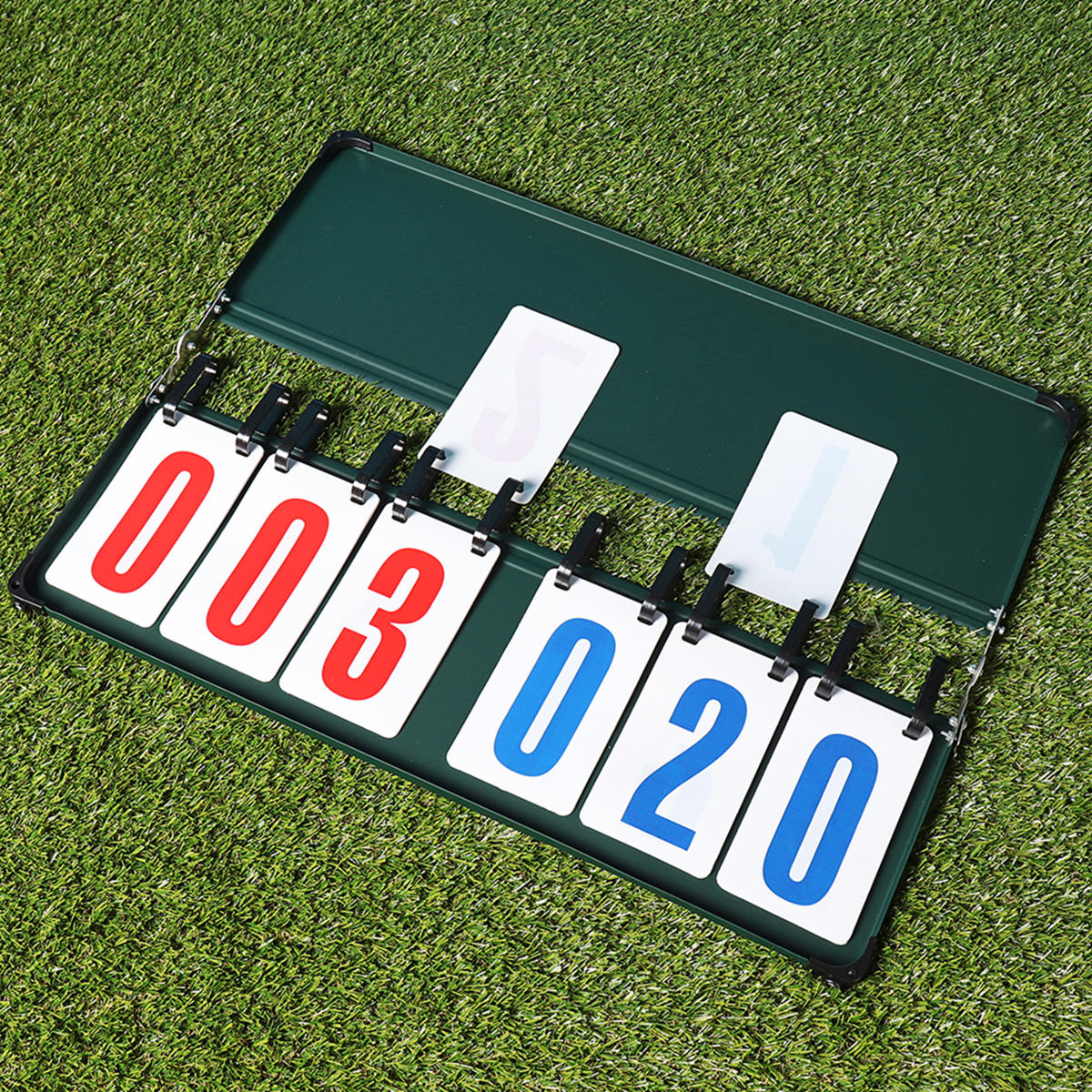 4/6 Digit Scoreboard Separator Portable Sports Match Football Basketball Game Judge Flip Score Board - 12