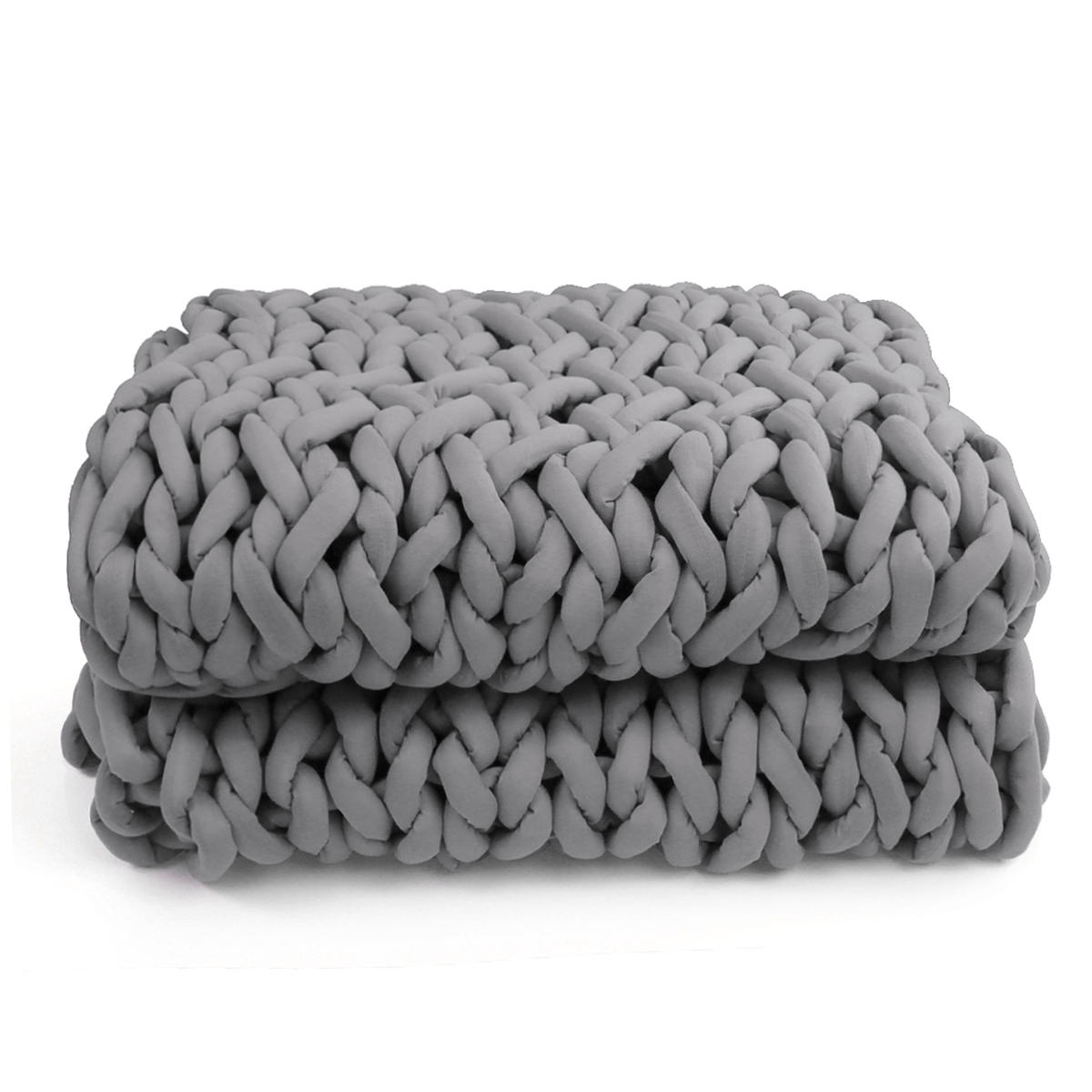120x150cm Handmade Knitted Blanket Soft Warm Thick Line Cotton Throw Blankets - 10