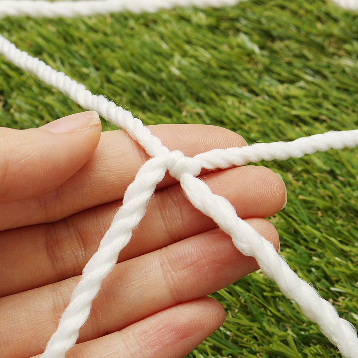 Football Soccer Goal Post Net Training Match Replace Outdoor Full Size Adult Kid - 6