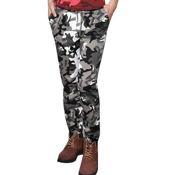 Plus Size Camouflage Outdoor Casual Pants Fashion Haren Beam Feet Trousers - 1