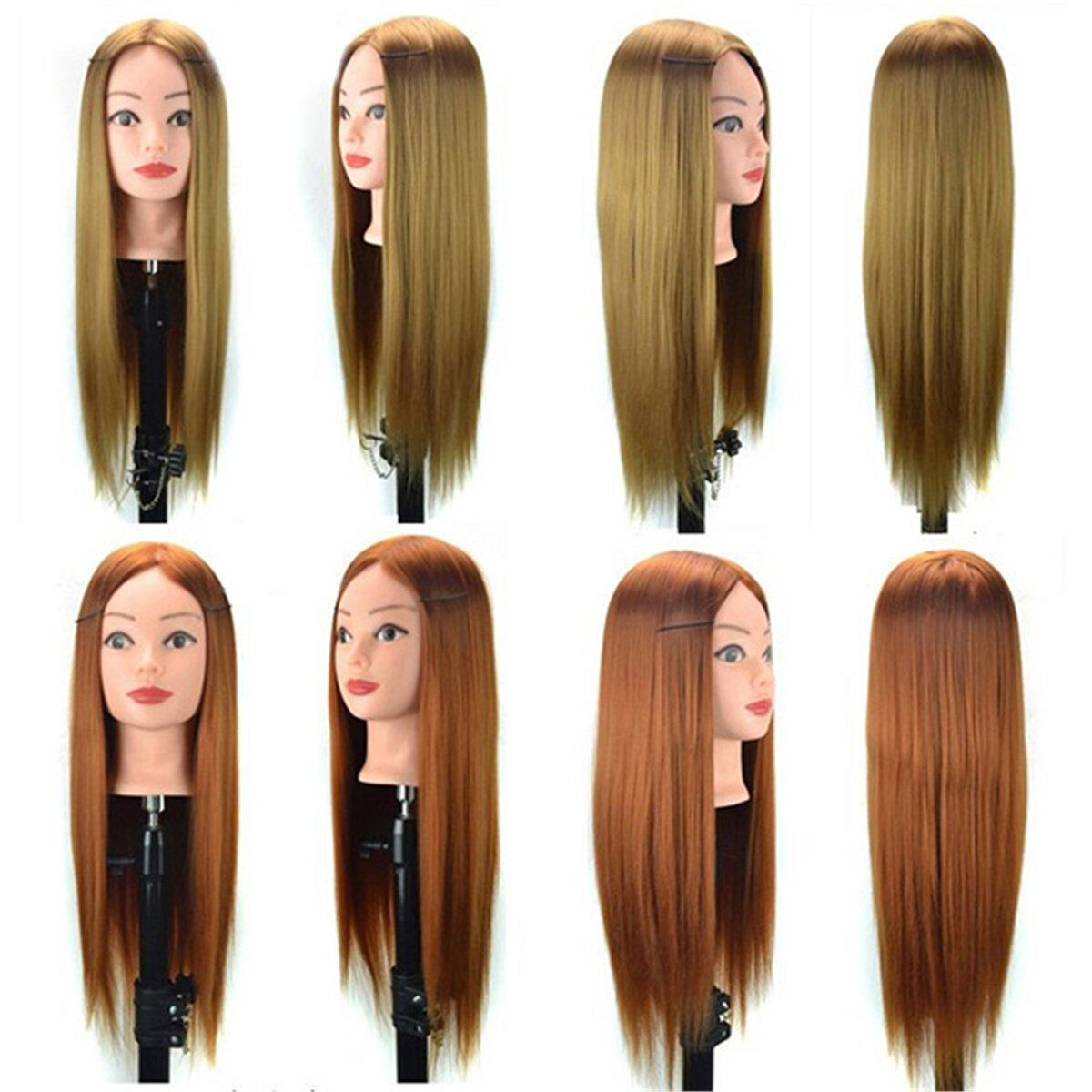Cosmetology Mannequin Head with Hair for Braiding Cornrow Practice Head Training Mannequin Dummy Heads - 4