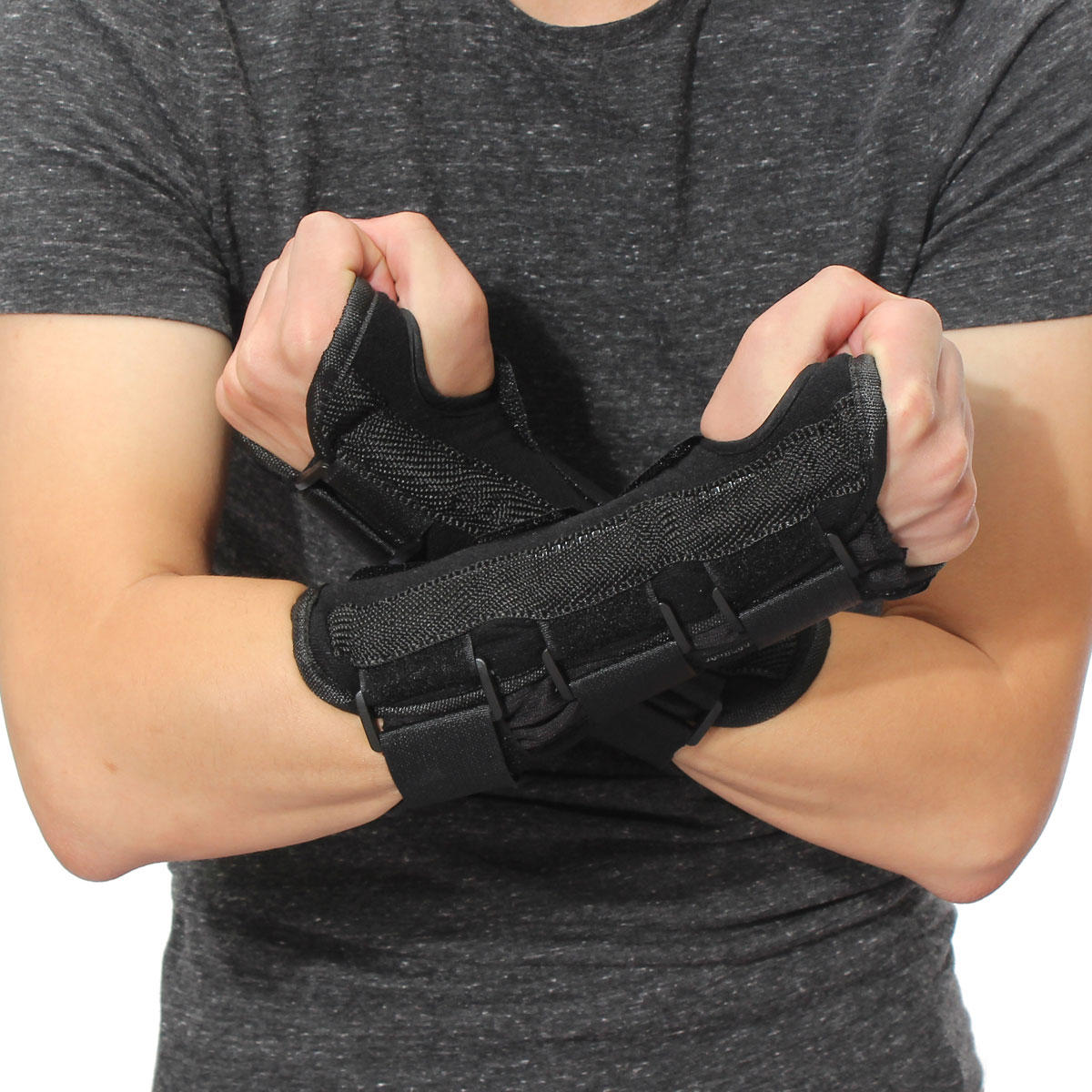 Wrist Splint Support Brace Fractures Carpal Tunnel Arthritis Sprain Band