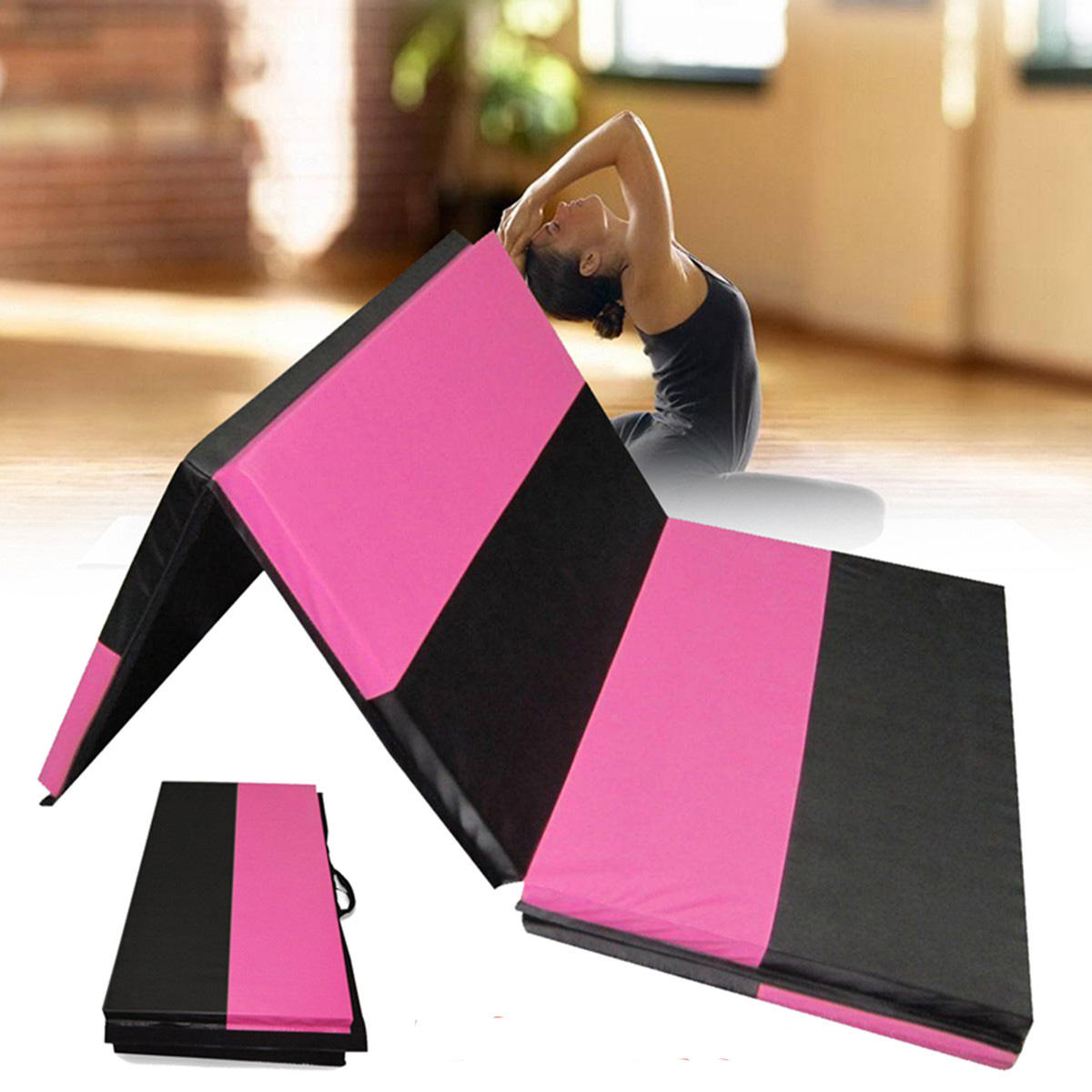 70x47x1.97inch Foldable Gymnastic Mat Exercise Yoga Fitness Workout Tumbling Pad