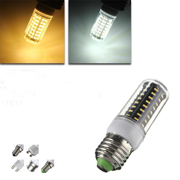 E14/E12/B22/G9/GU10/E27 LED Bulb 5W SMD 4014 72 500LM Pure White/Warm White Corn Light Lamp AC 220V