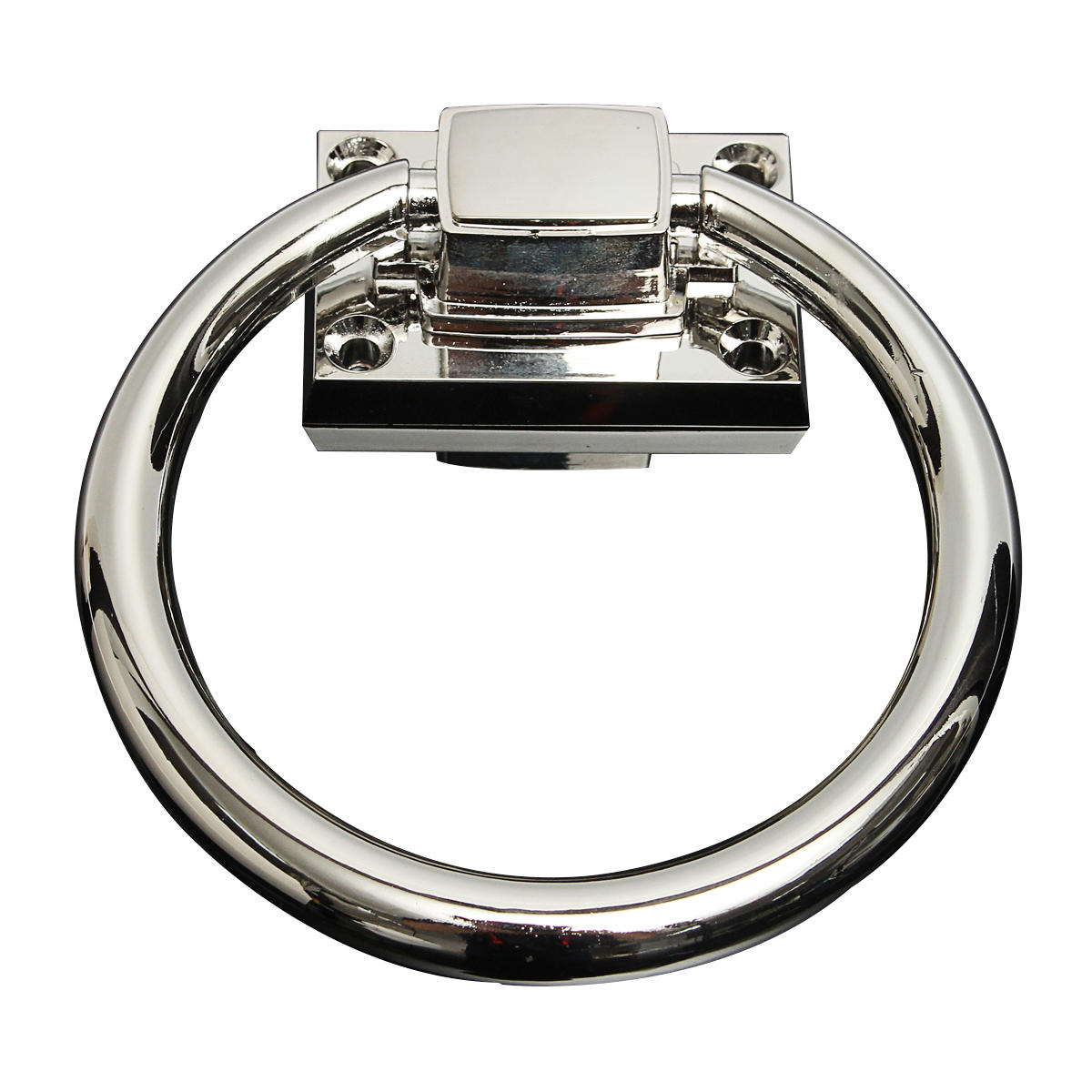 Stainless Steel Knocker Pulls Handle Pull Rings Shiny Silver for Wooden Door Chair