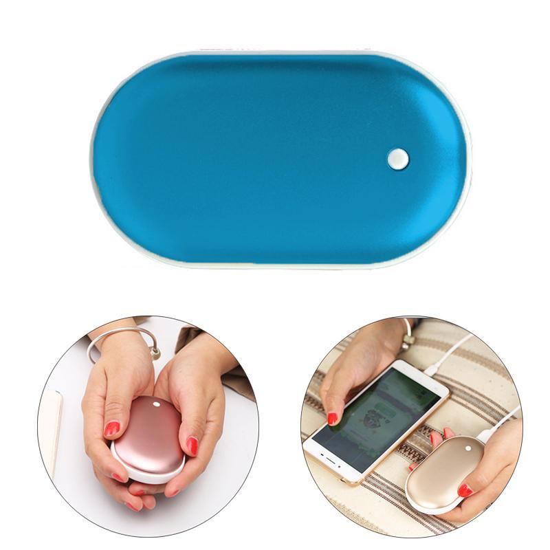 IPRee® 2 en 1 Mini USB Hand Warmer Calentador 5000mAh Banco de energía para teléfonos móviles
