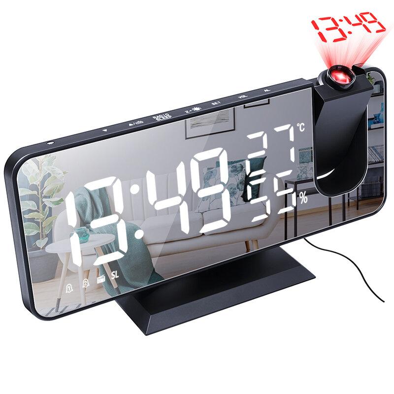جهاز عرض إلكتروني LED إنذار ساعةحائط سطح المكتب رقمي جهاز عرض إنذار ساعةحائط ذكي غرفة نوم منزلية بجانب السرير ساعةحائط