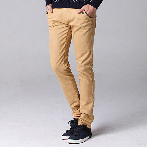 Big Size 30 44 Fashion Korean Casual Straight Slim Pants Men's Solid Color Trousers - 1
