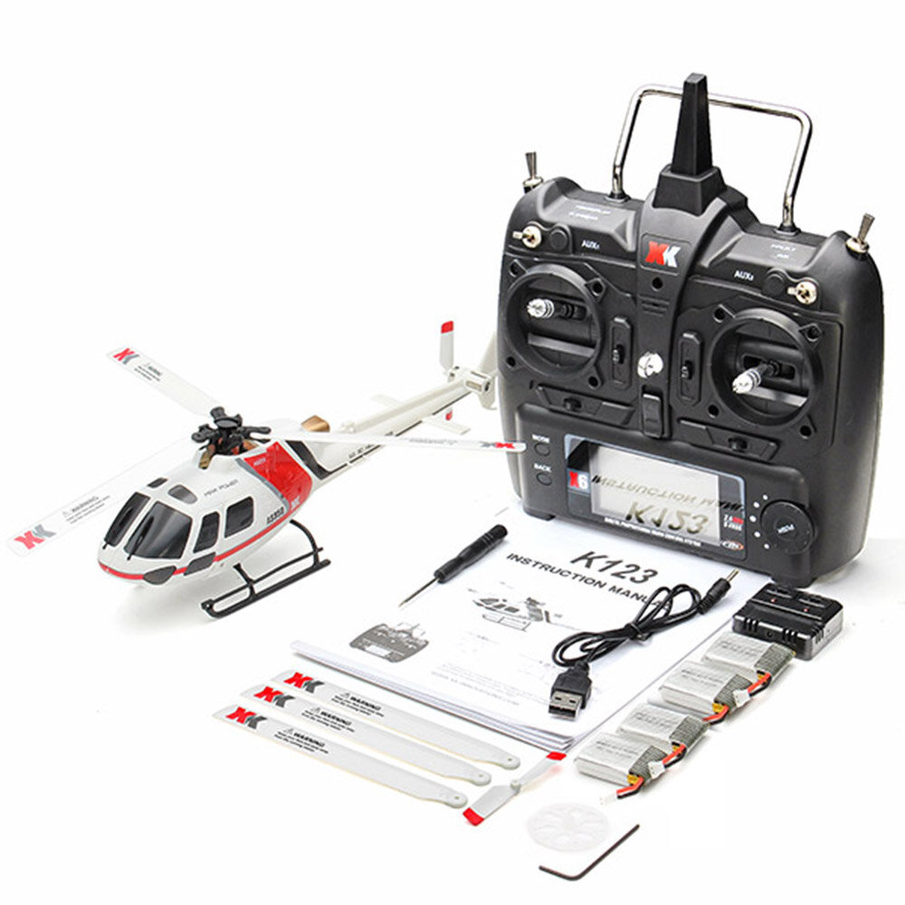 OMPHOBBY M2 V2 6CH 3D Flybarless Dual Brushless Motor Direct-Drive RC Helicopter BNF with Open Flight Controller - 11