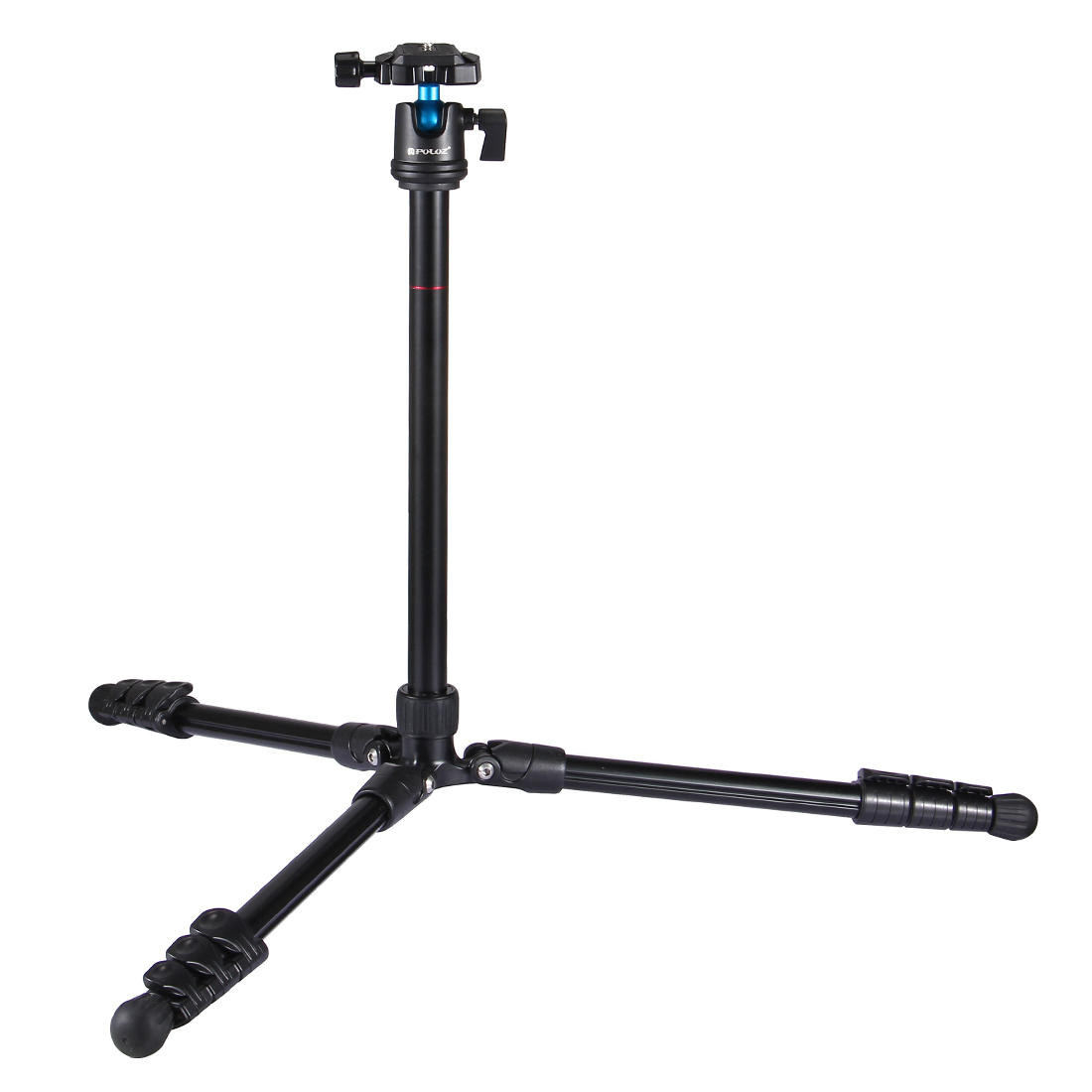 PULUZ PU3009 4-Section Folding Legs Metal Tripod Mount with 360 Degree Ball Head for DSLR - 3