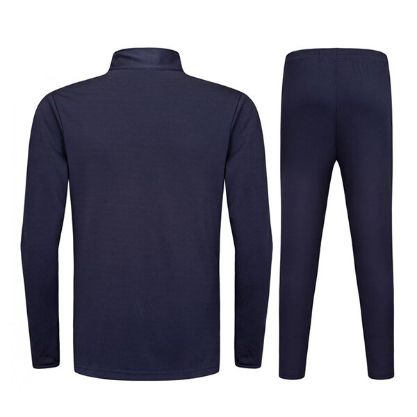 Outdoor sports Football Training Suit Casual Half Zipper Mens Long Sleeved Sportswears Suit - 4