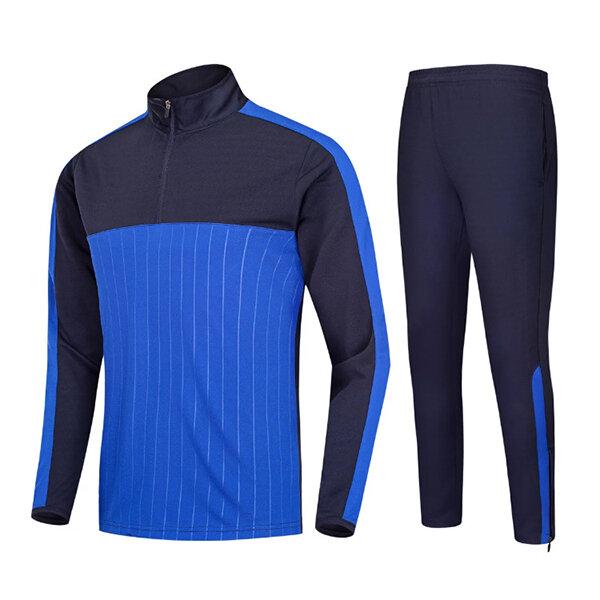 Спорт на открытом воздухе Футбол Тренировочный костюм Повседневная Половина молнии Мужская с длинными рукавами Спортивная одежда - 3