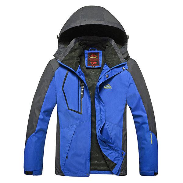 Mens Windproof Water Repellent Outdoor Fishing Mountaineering Sports Autumn Jacket - 6
