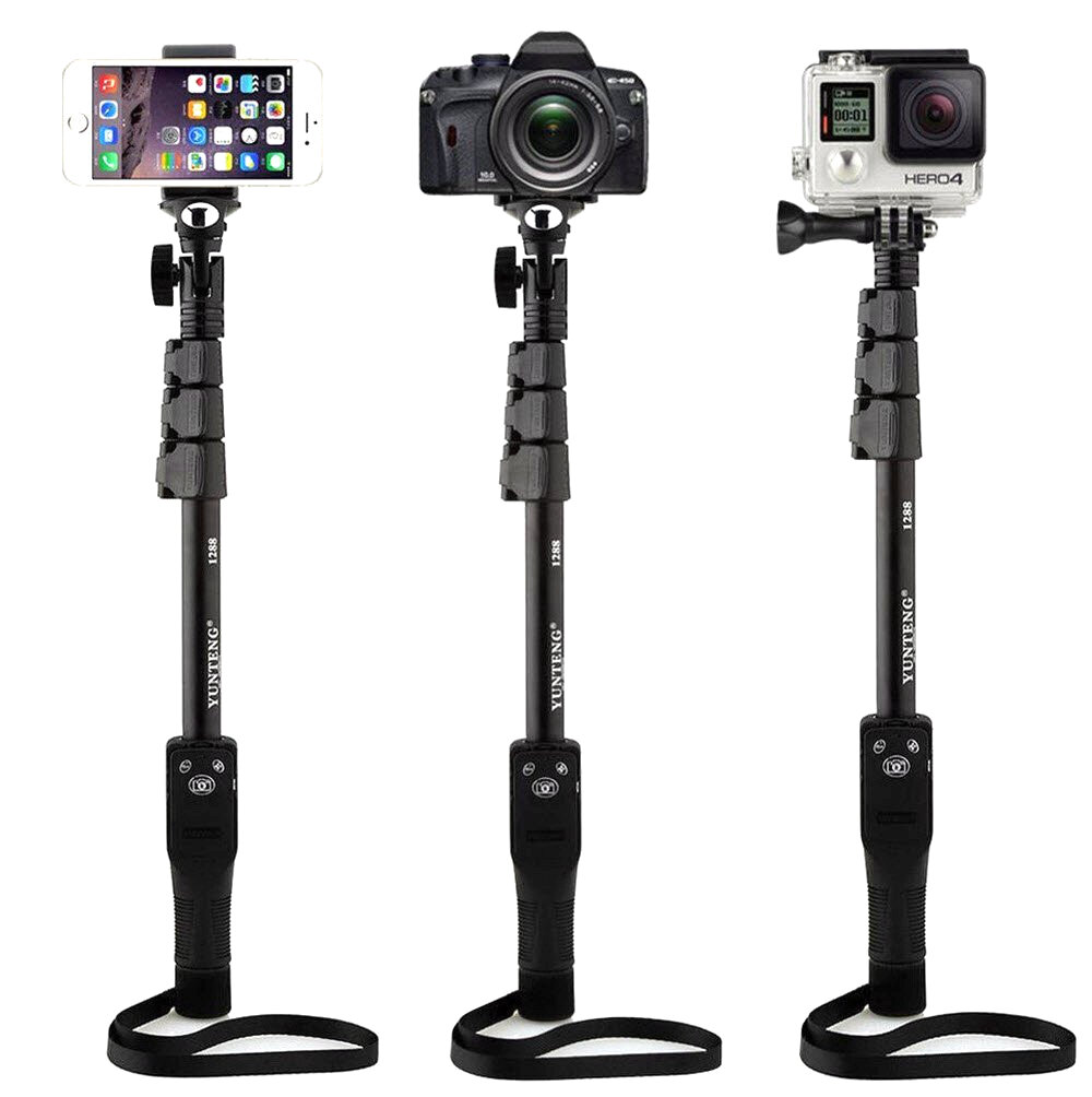 ed2bec69e7e895 YT-1288 Extendable bluetooth Remote Control Mirror Selfie Stick Monopod for  Cell Phone Gopro Camera COD