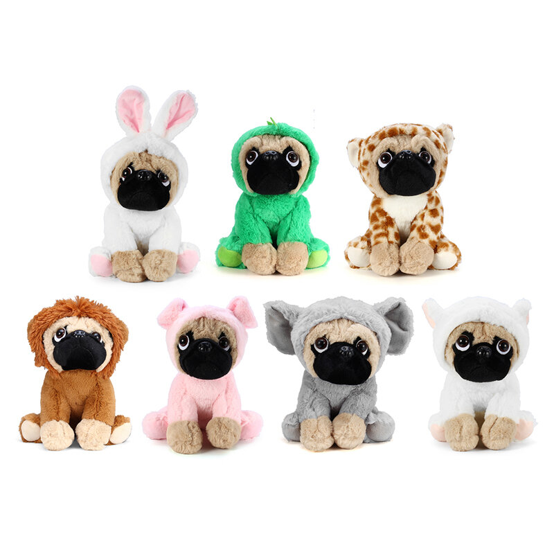 New Soft Cuddly Dog Toy in Fancy Dress Super Cute Quality Stuffed Plush Toy Kids Gift