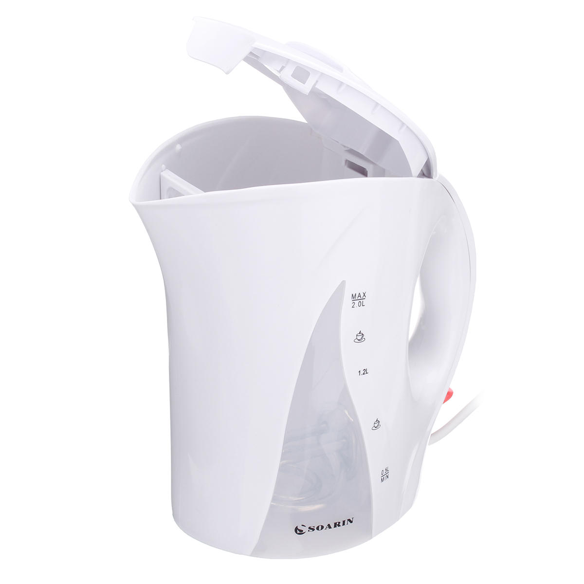 SOARIN SQ-2011D Electric Kettle 2200W 2.0 L Hot Water Tea Heater Pot Boiler With LED Light