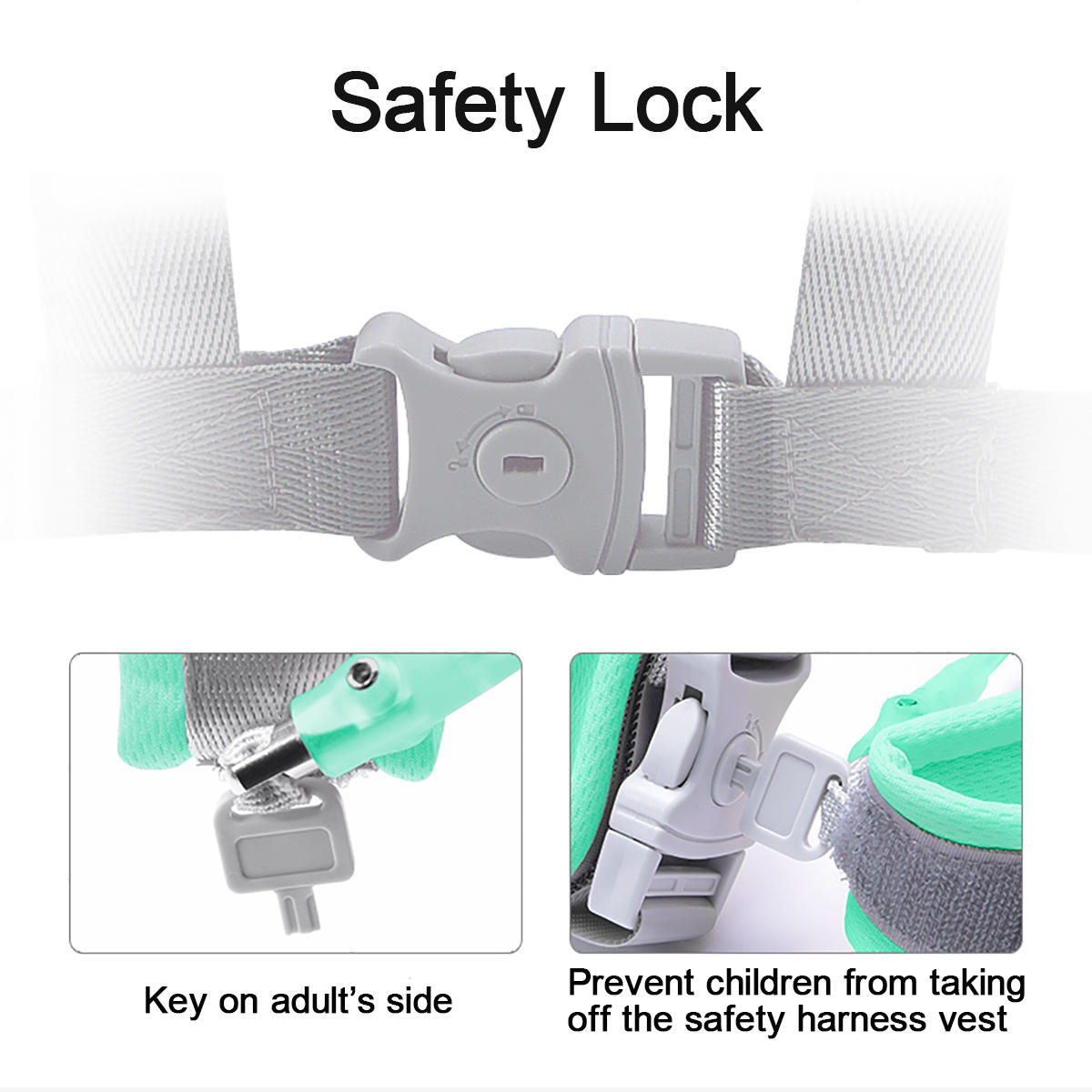 Kids Baby Safety Anti-lost Strap Walking Harness Toddler Wrist Band Belt CB