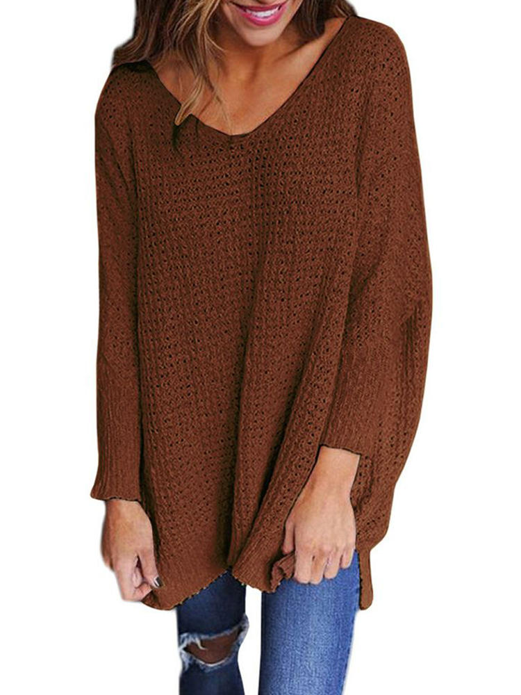 Shawl Collar Irregular Patchwork Button Hooded Knit Sweaters - 5