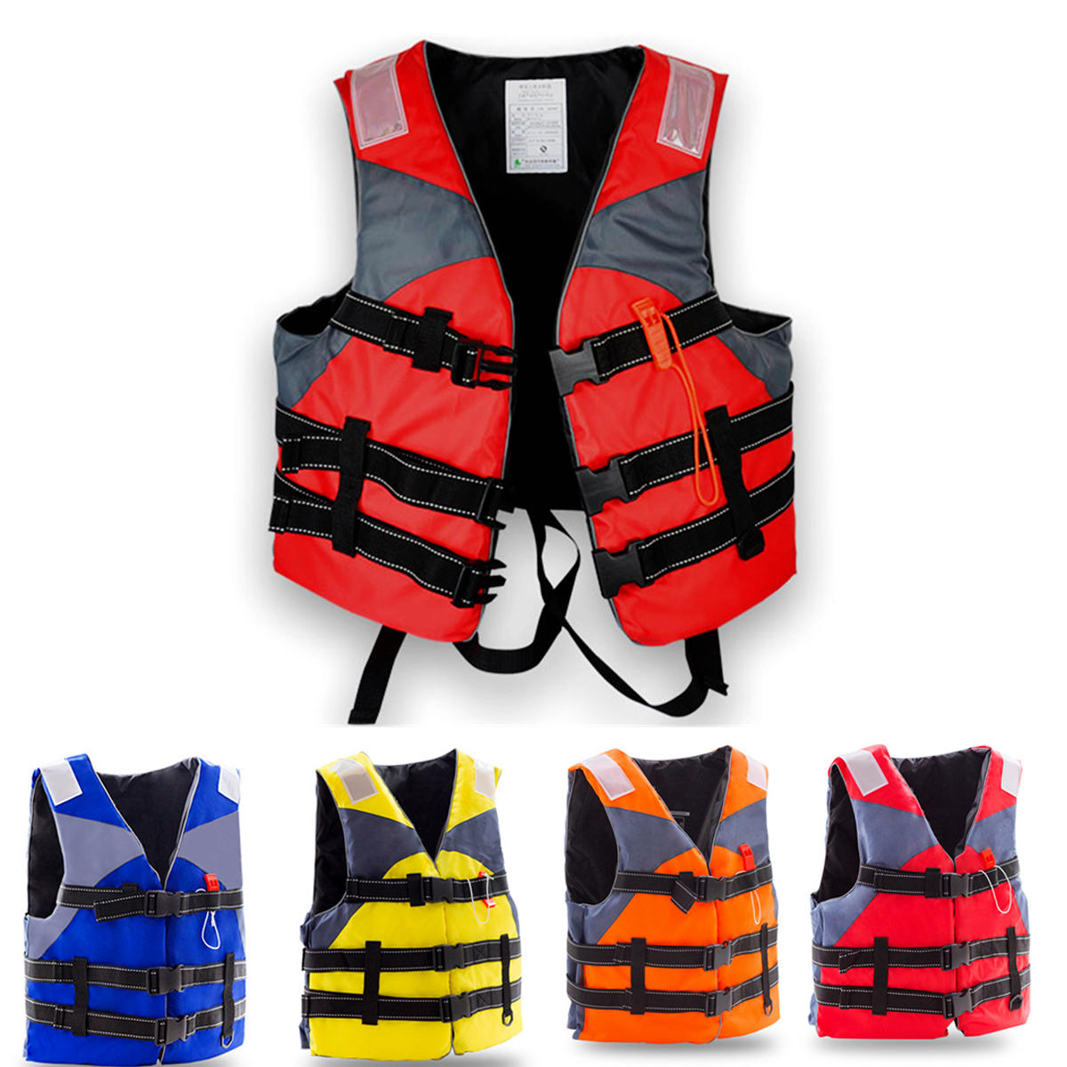 XXL Outdoor Survival Life Jacket Fully Enclose Foam Adult Boating Life Jacket Vest with Whistle