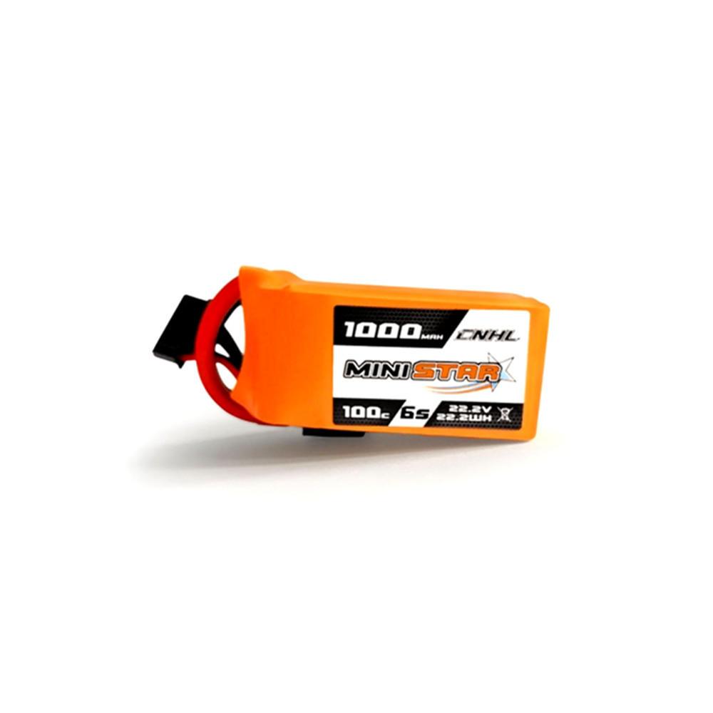 आरसी ड्रोन एफपीवी रेसिंग के लिए सीएनएचएल मिनीस्टार 22.2 वी 1000 एमएएच 6 एस 100 सी लिपो बैटरी एक्सटी 60 प्लग
