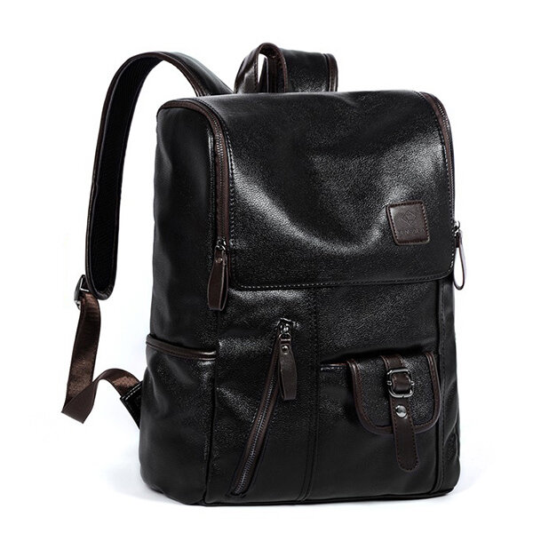 Ekphero Men Solid Casual Multifunction Laptop Flap Backpack - 1