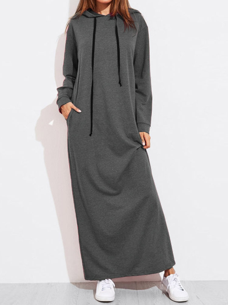 Hollow Splice Swing Maxi Dress - 4