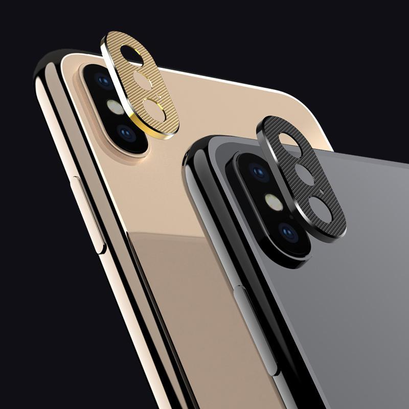 2 pakker TOTU aluminiumslegering bak kameralinsbeskytter til iPhone XR / XS/XS Max