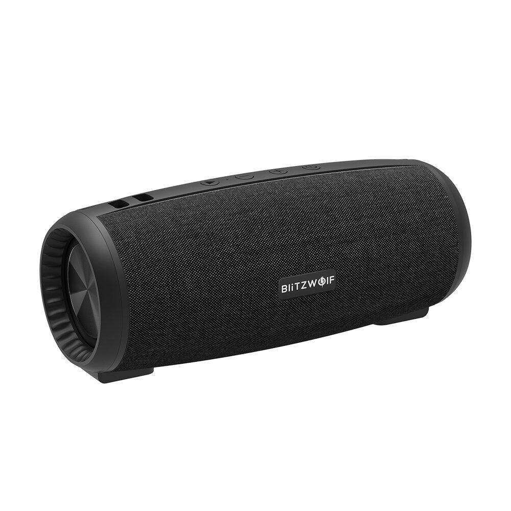 BlitzWolf® BW-WA1 12W Wireless bluetooth 5.0 Speaker Dual Passive Diaphragm TWS Stereo TF Card U Disk Speaker with Mic