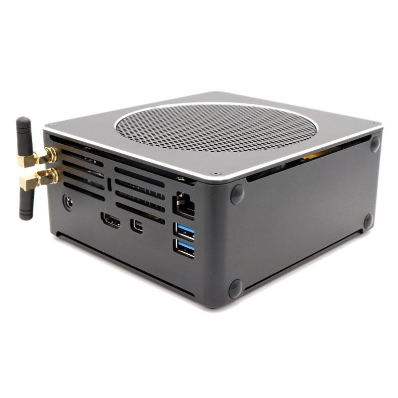 HYSTOU Mini PC S200 Intel i7 8750H 16GB+256GB/16GB+512GB Dual Core Win10 Pro 2*DDR4 Intel UHD Graphics 630 Fan Mini Desktop PC M.2 SATA MIC VGA 4K HDMI