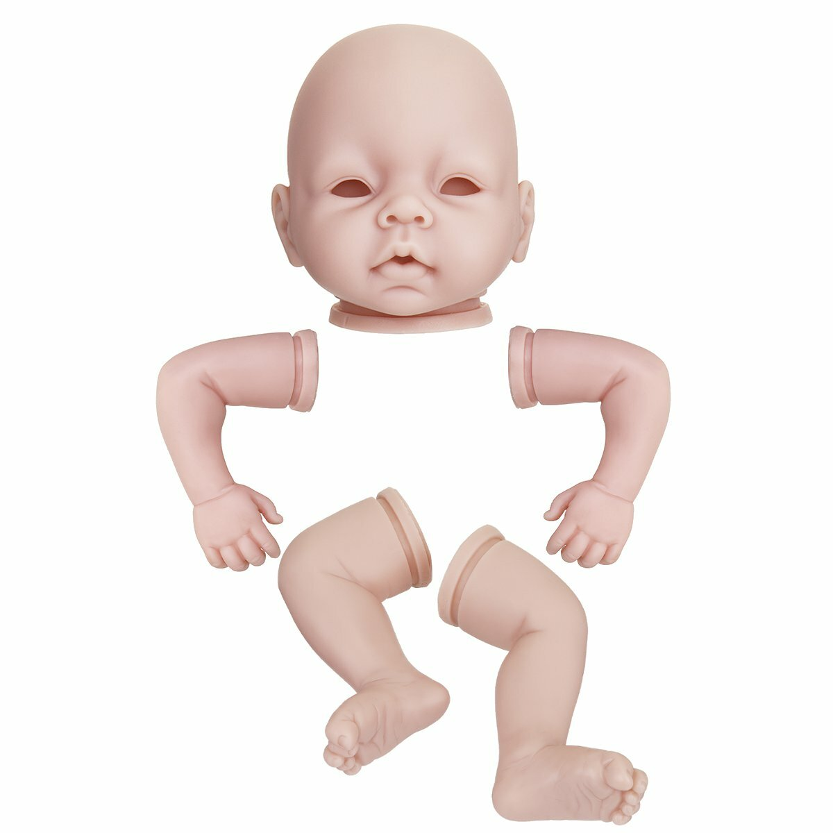 Silicone Vinyl DIY Reborn Baby Doll Accessories Lifelike Toddler Gifts No Body