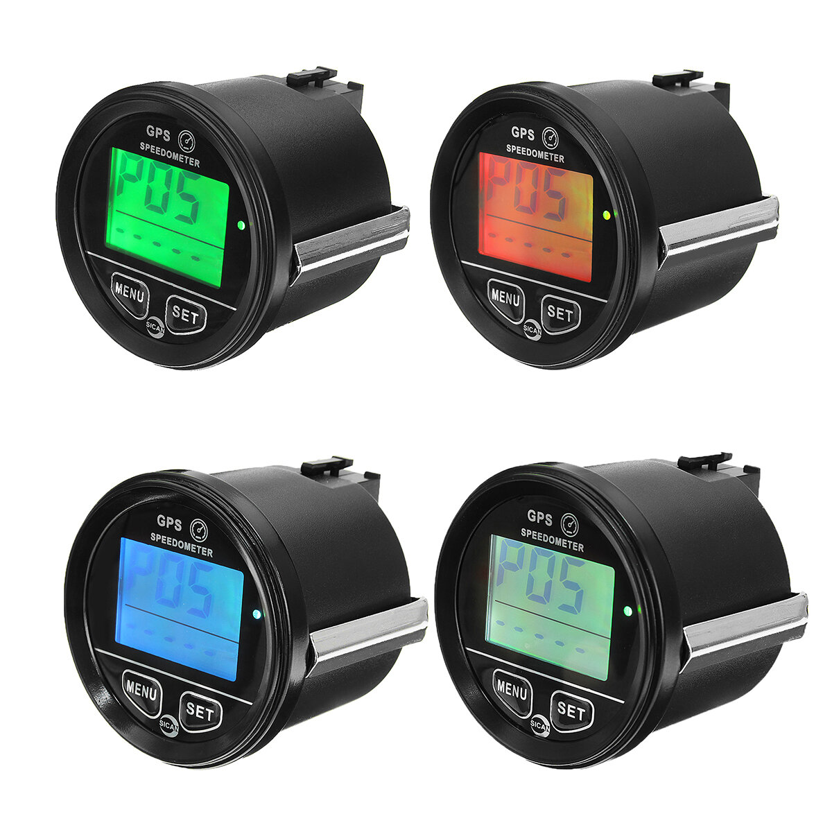 60mm GPS Speedometer Odometer LCD Digital Display 12V 24V for Motorcycle Marine Boat Truck, Banggood  - buy with discount