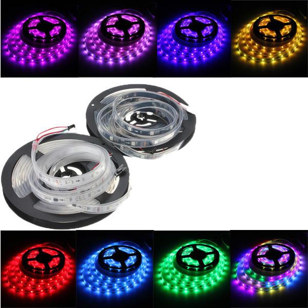 WS2811 5M LED Dải 150 SMD 5050 LED RGB Dream Color Dải ánh sáng Không thấm nước IP65 DC 12V