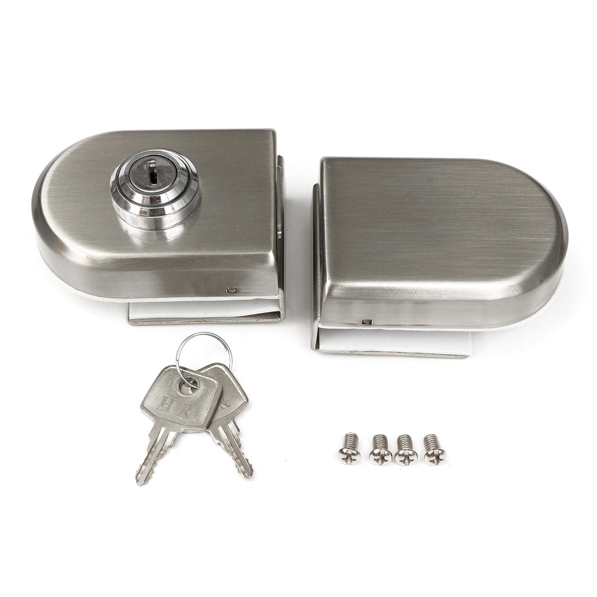 Stainless Steel 12mm Gl Door Lock Double Swing Hinged Frameless