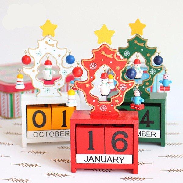 Madera, navidad, árbol, calendario, tabla, escritorio, hogar, oficina, ornamento, navidad, decoración, regalo - 2