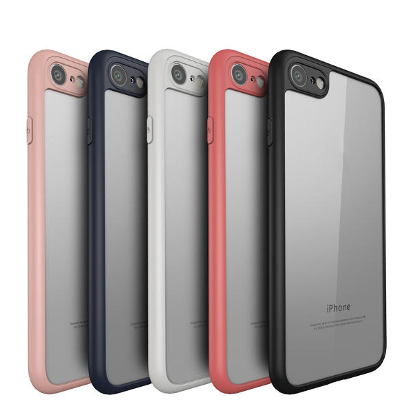 Keziwu Clear Transparent Hybrid PC TPU Case For iPhone 7