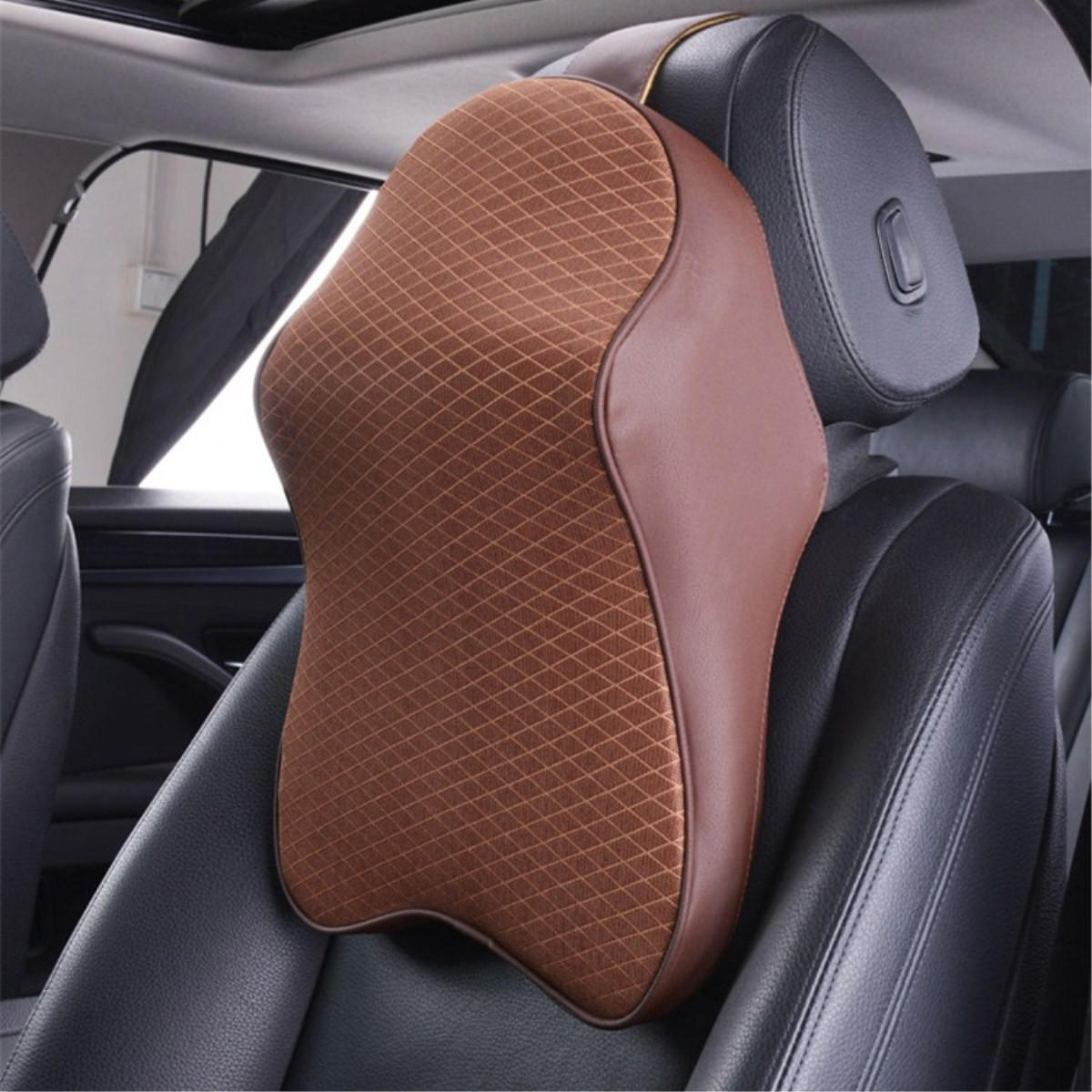 Car Seat Head Rest Pad Memory Foam Pillow Head Neck Rest Support Cushion