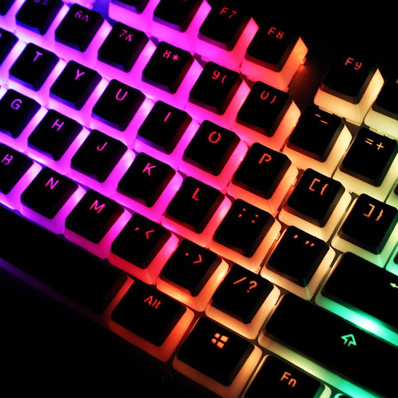 104 Key PBT OEM Profile Double-Skin Milk Pudding Keycap Translucent Key  Caps for Mechanical Keyboard