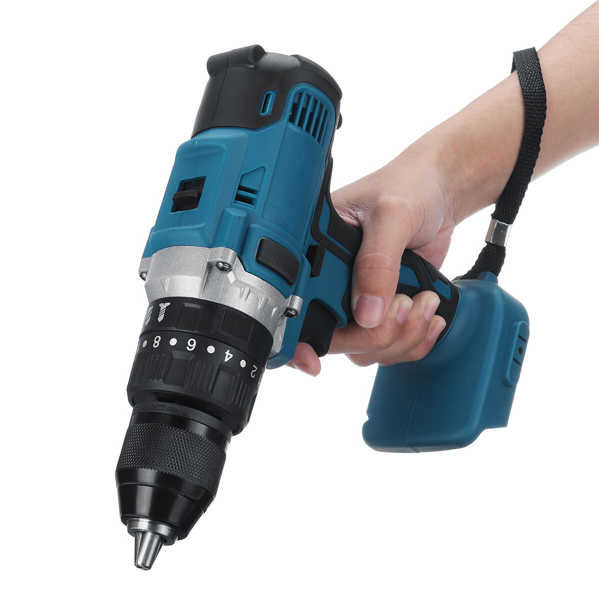 Raitool 12V/24V Lithium Battery Power Drill Cordless Rechargeable 2 Speed Electric Drill - 11