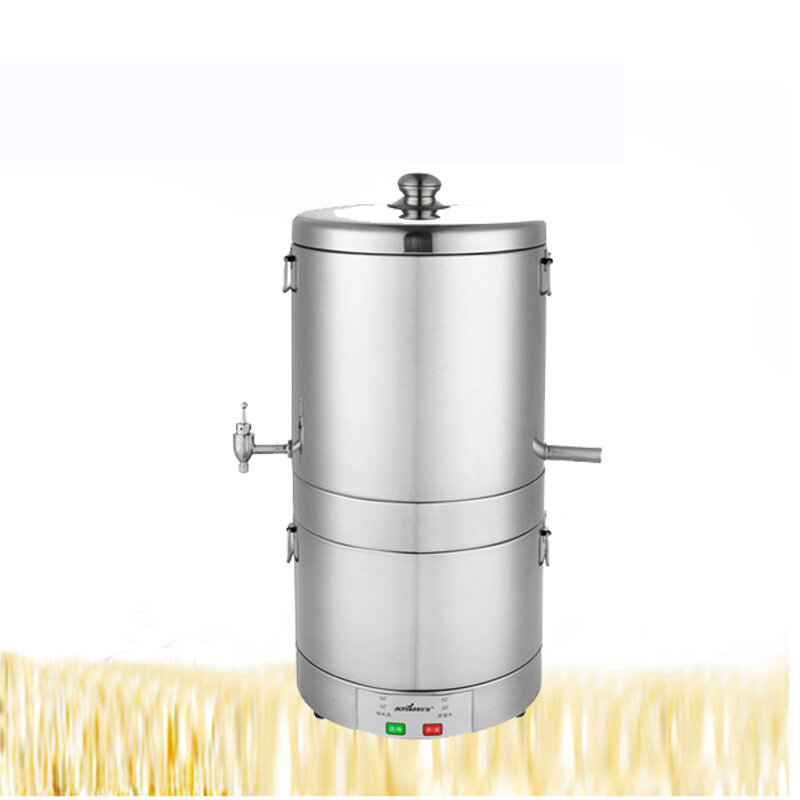 10L DIY Professional Alcohol Moonshine Water Copper Household Home Stainless Alcohol Distiller Boiler B-eer W-ine Making For Party Home Living 220V