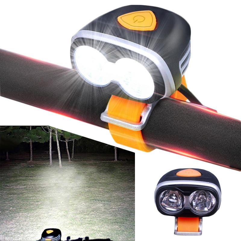 XANES DL10 1200LM 2xL2 Far Near Distance Large Floodlight Bike Front Light 5 Modes IPX6 Waterproof Double LED Headlight